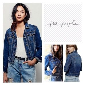 💙FREE PEOPLE FITTED DENIM JACKET